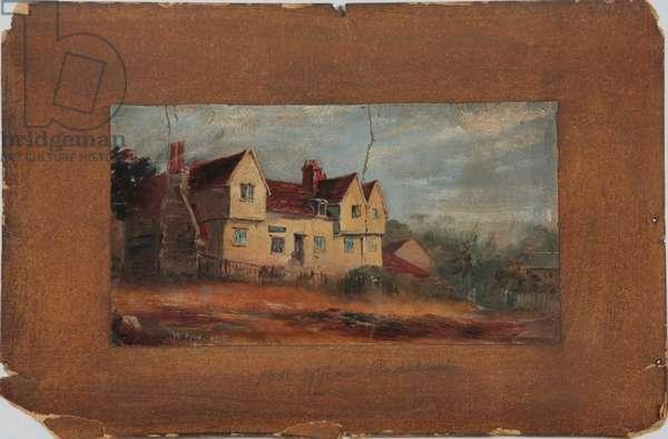 Post Office, Beddington, 1874 (oil on board)