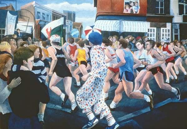 London Marathon, 1996 (oil on canvas)