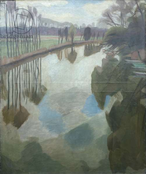 River Loing, 1929 (oil on canvas)