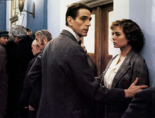 Scene from the film Kafka, with Jeremy Irons and Theresa Russell, 1991