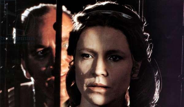 Ulrik Cold as Sarastro and Irma Umila as Pamina in Ingmar Bergman's film version of Mozart's opera The Magic Flute, 1975