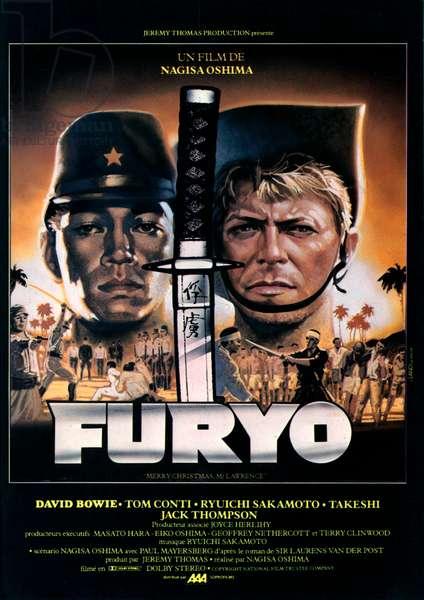 Affiche du film Furyo (Merry Christmas Mr. Lawrence) de NagisaOshima avec David Bowie et Ryuchi Sakamoto, 1983
