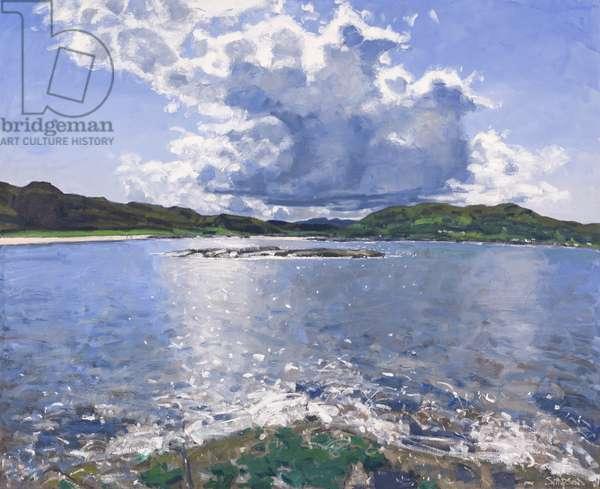 Big Cloud over Portuairk, 2017 (oil on canvas)