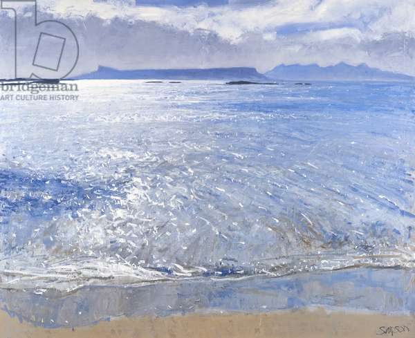 Late Afternoon, Eigg & Rum, 2013 (oil on canvas)