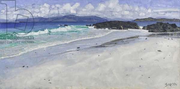 Beach Rocks, Iona, 2016 (oil on canvas)