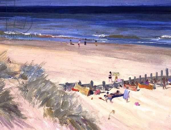 Norfolk Beach, c.1980 (oil on canvas)