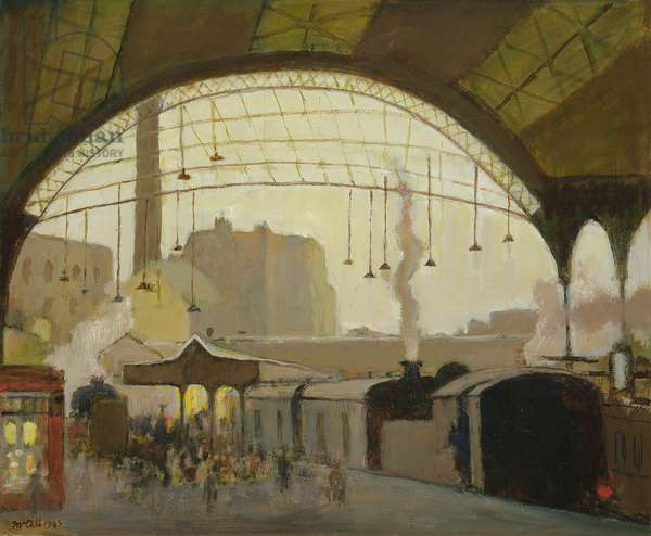 Victoria Station, 1985 (oil on canvas)