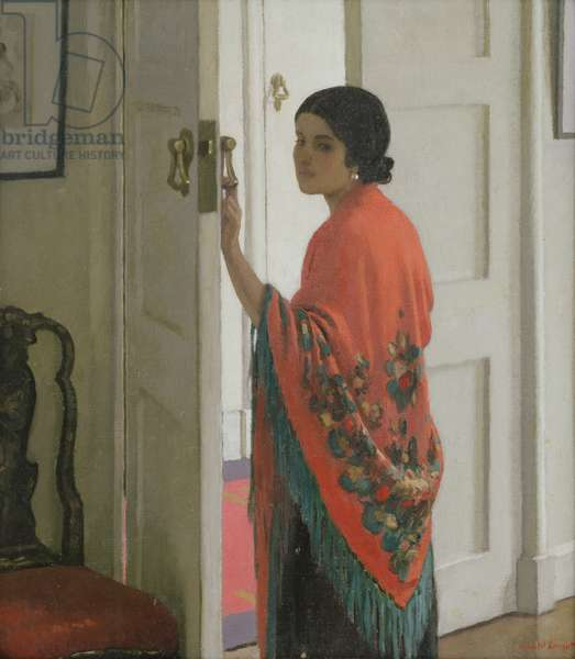 The Crimson Shawl, c.1935 (oil on canvas)