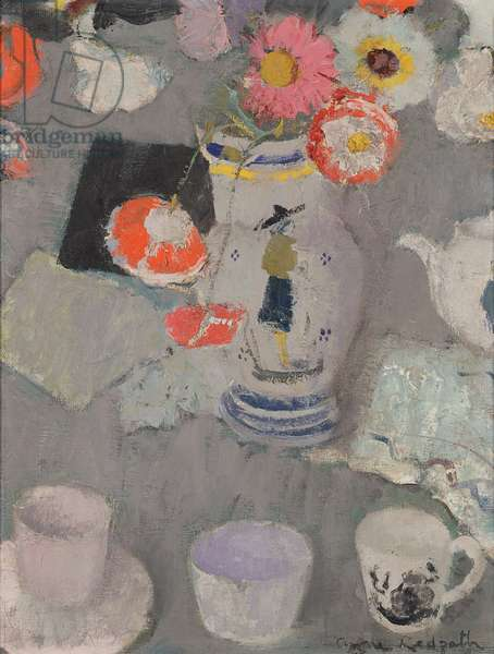Flowers in a French Jug, c.1952-53 (oil on board)