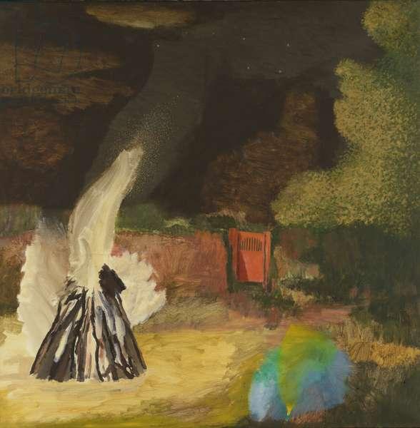 Bonfire and Gate I, Bonfire Night, 1992 (oil on canvas)