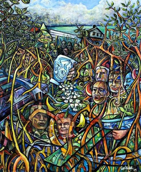 The Incorporators:1896, 2005 (acrylic on canvas)