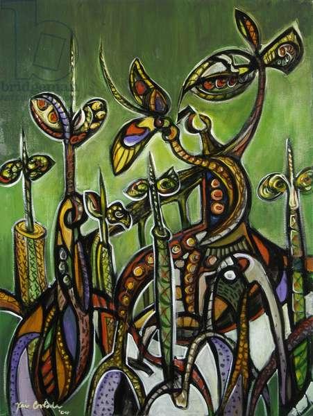 Mangroves (on Green) 2004 (acrylic on canvas)