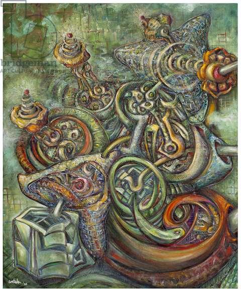 The Four Nucleotides: Cytosine, 2010 (oil on canvas)