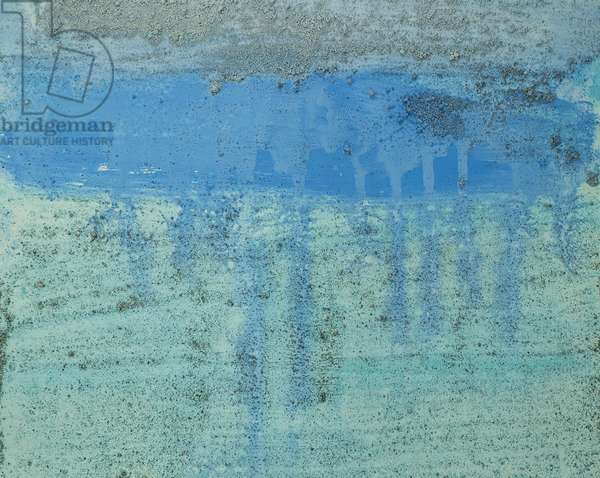 Antarctic Ice Painting: A16, 2008 (Antarctic ice, acrylic, and mixed media on paper)