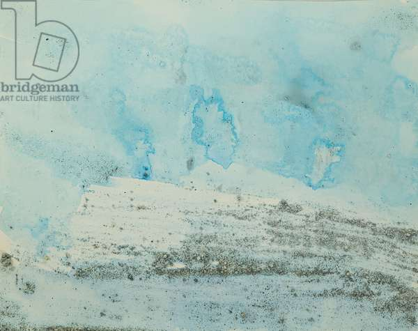 Antarctic Ice Painting: A50, 2008 (Antarctic ice, acrylic, and mixed media on paper)