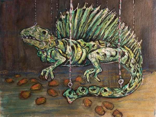 Dimetrodon (Cisularian), 2017 (mixed media on paper)