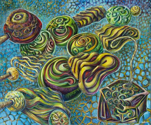 The Four Nucleotides: Guanine, 2010 (acrylic on canvas)