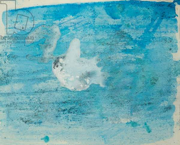Antarctic Ice Painting: A17, 2008 (Antarctic ice, acrylic, and mixed media on paper)