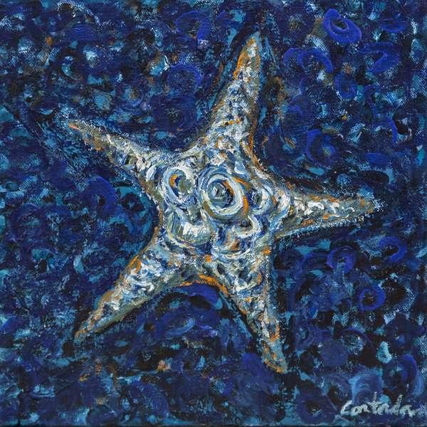 Sea Star 3, 2014, (acrylic on canvas)