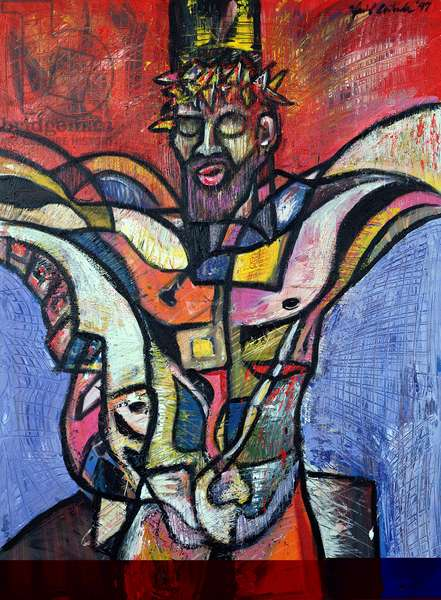 Cristo Cusqueno, 1997 (acrylic on canvas)