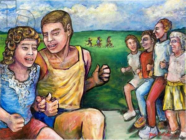 Caminando, 2004 (acrylic on canvas)