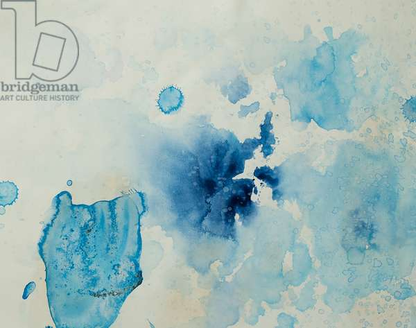 Antarctic Ice Painting: A40, 2008 (Antarctic ice, acrylic, and mixed media on paper)