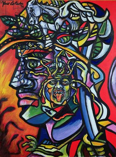 Perseus, 1998 (acrylic on canvas)