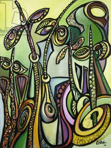 Mangroves (A) 2005 (acrylic on canvas)