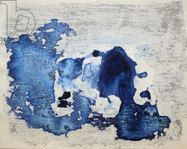 astrid, 2007, (sea ice from the Antarctica's Ross Sea, sediment from Antarctica's Dry Valleys and mixed media on paper)