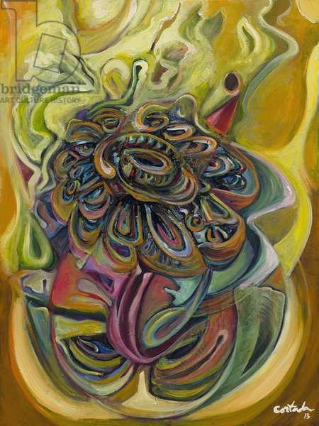 Flor, 2013, (acrylic on canvas)