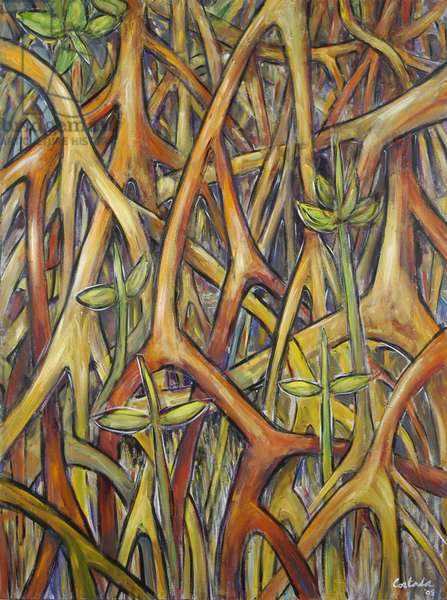Roots 2, 2005 (acrylic on canvas)