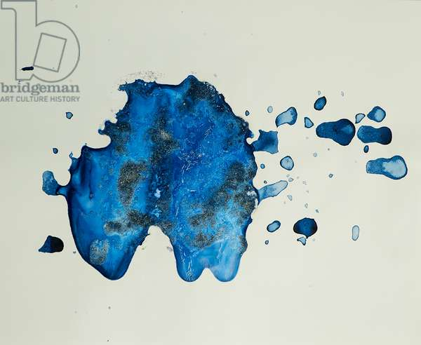 Antarctic Ice Painting: A7, 2008 (Antarctic sea ice, acrylic, and mixed media on paper)