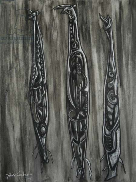 Mangrove Seeds 2, 2004 (mixed media on canvas)