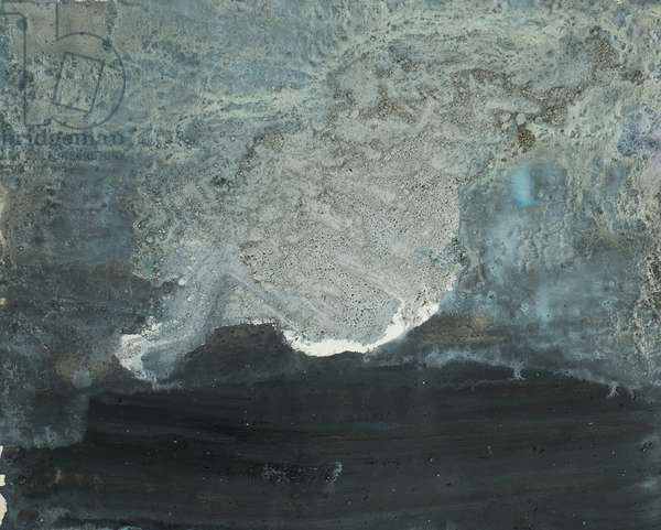 Antarctic Ice Painting: A20, 2008 (Antarctic ice, acrylic, and mixed media on paper)
