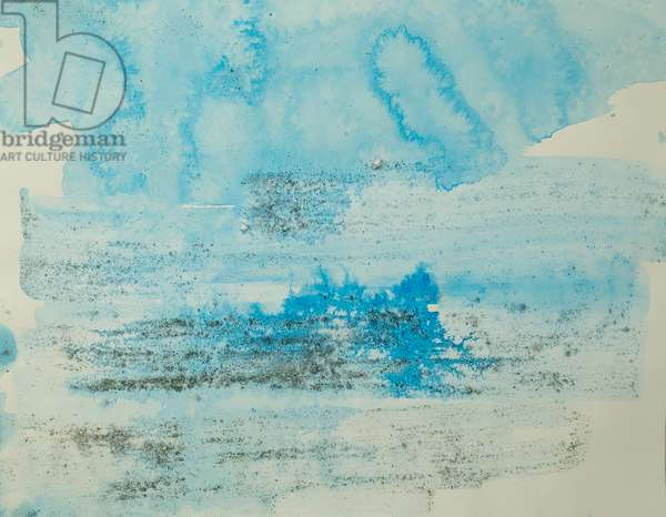 Antarctic Ice Painting: A42, 2008 (Antarctic ice, acrylic, and mixed media on paper)