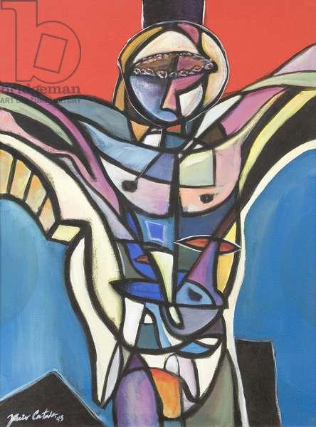 Cubist Christ, 1995 (acrylic on canvas)