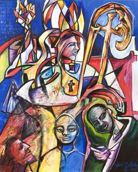 No Tengan Miedo, 1999 (acrylic on canvas)