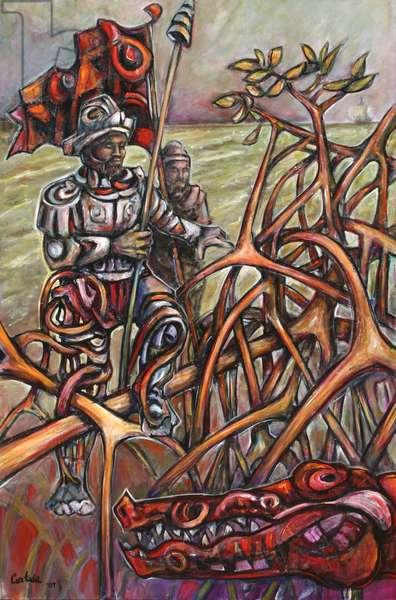 Conquistadores, 2007 (acrylic on canvas)