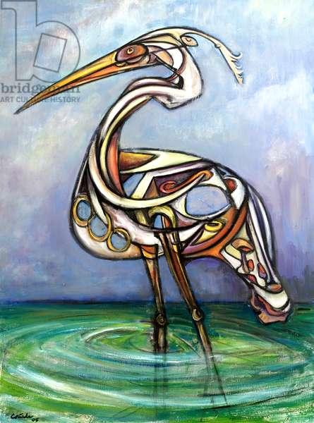 Heron, 2005 (oil on canvas)