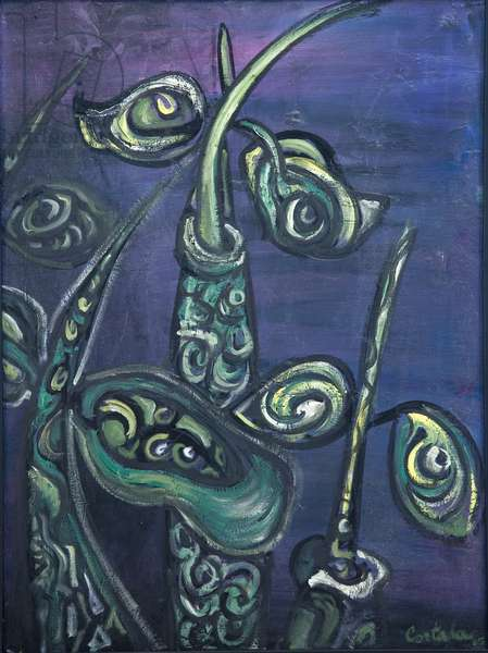 Mangroves on Purple, 2005, (acrylic on canvas)