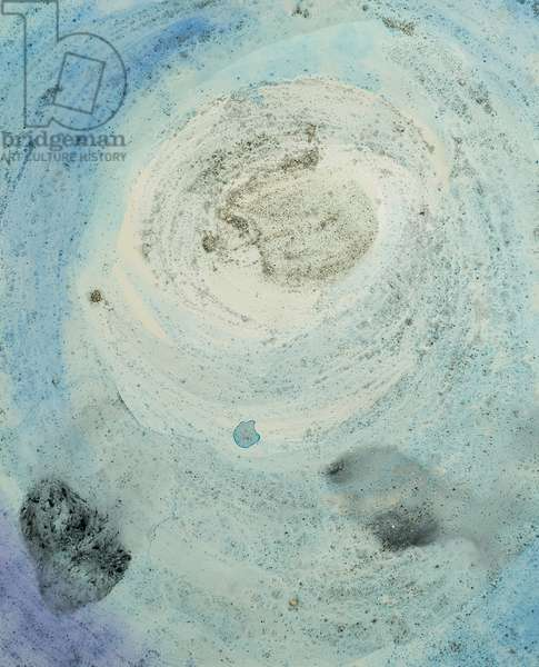 Antarctic Ice Painting: A9, 2008 (Antarctic ice, acrylic, and mixed media on paper)