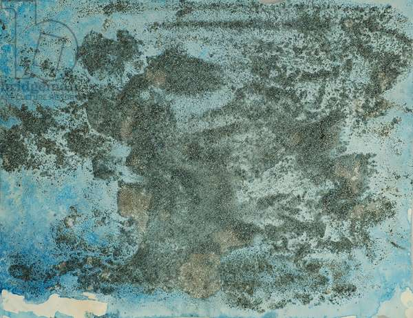 Antarctic Ice Painting: A22, 2008 (Antarctic ice, acrylic, and mixed media on paper)