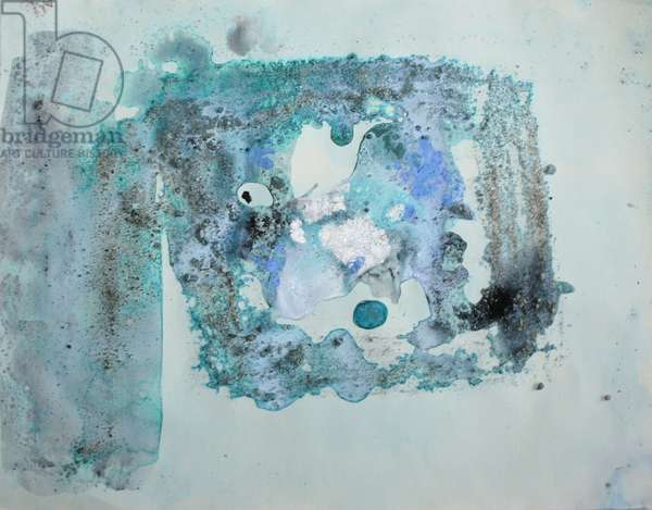 lauritzen, 2007, (sea ice from the Antarctica's Ross Sea, sediment from Antarctica's Dry Valleys and mixed media on paper)