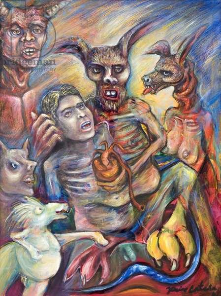 The Feast, 2001 (oil on canvas)