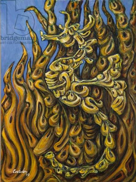 Seahorse Society: South, 2014, (acrylic on canvas)