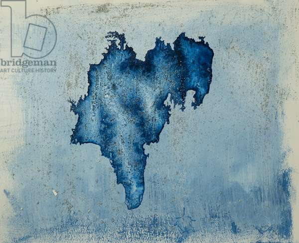 Antarctic Ice Painting: A10, 2008 (Antarctic ice, acrylic, and mixed media on paper)