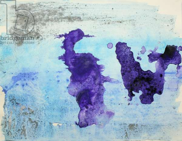 bellingshausen, 2007, (sea ice from the Antarctica's Ross Sea, sediment from Antarctica's Dry Valleys and mixed media on paper)