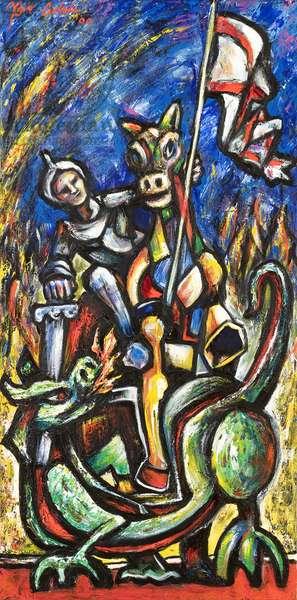 Estampita de St. George, 2000 (acrylic on canvas)