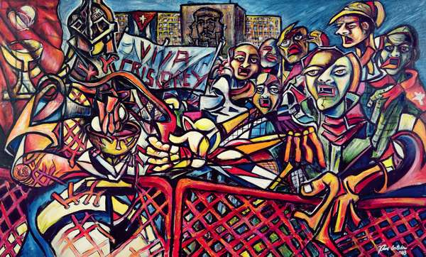 Communion in the Square, 1998 (acrylic on canvas)