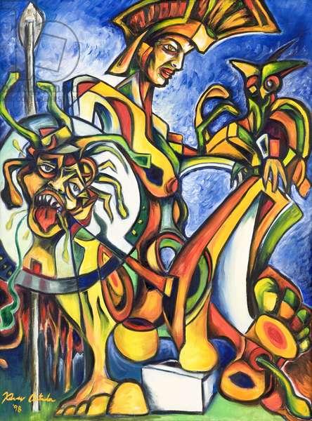 Athena, 1998 (oil on canvas)